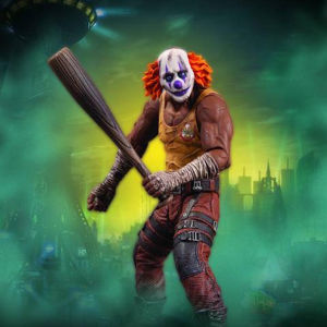 Batman Arkham City: Series 3: Clown Thug Action Figure with Bat