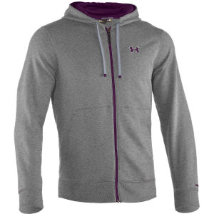 Under Armour Men's Charged Cotton Storm Transit Full Zip Hoody - True Grey/Heather/Echo