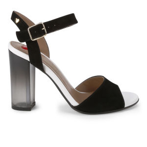 Love Moschino Women's 'Made in Italy' Glass Heeled Sandals - Black