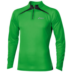 Asics Men's Long Sleeve 1/2 Zip Top - Power Green