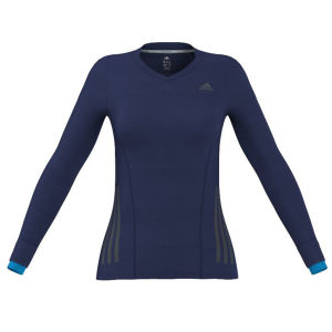 Adidas Women's Super Nova Long Sleeve Running Top - Night Blue/Solar Blue