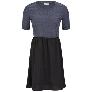 Only Women's Abel Contrast Skater Dress - Navy/Black