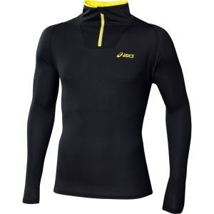 Asics Men's Mile Long Sleeve 1/2 Zip Performance Running Top - Black