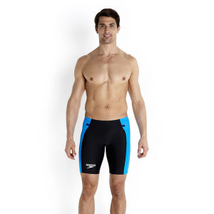 Speedo Men's LZR Racer Tri Comp Shorts - Black/Pool/White