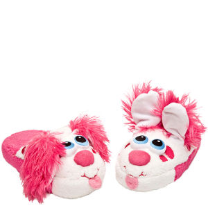 Stompeez Perky Pink Puppy Slippers