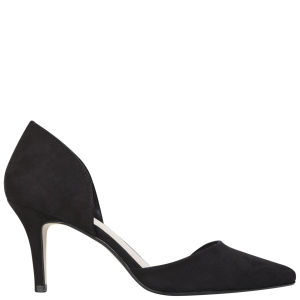 Miss KG Women's Celina Heeled Suedette Court Shoes - Black