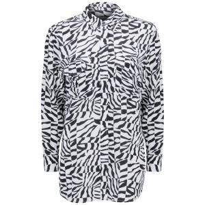 Equipment Women's Major Silk Blouse - Black/Bright White