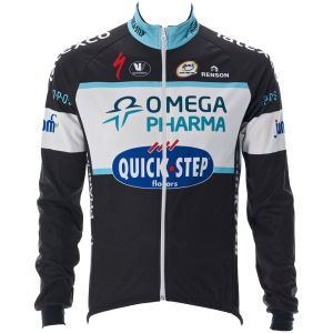 Omega Pharma Quickstep Team Replica Mid Season Jacket - Black 2014