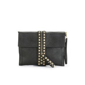 Thomas Calvi Women's Studded Zip Clutch - Black