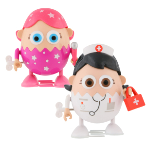 Eggbods Girls Twin Pack - Eggsfactor and Nurse Eggwhite