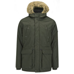 Ringspun Men's Mike Ripstop Parka Coat - Khaki