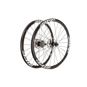 Zipp 202 Carbon Clincher Disc Brake Rear Wheel 24 Spokes 10/11 Speed - Black Decal 2015