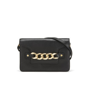 MILLY Women's Thompson Chain Detail Leather Small Cross Body Bag - Black
