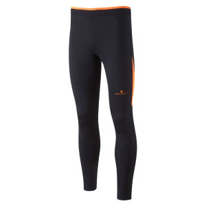 RonHill Men's Vizion Contour Tights - Black/Fluorescent Orange