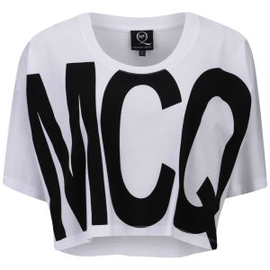 McQ Alexander McQueen Women's Logo Print Cropped T-Shirt - White