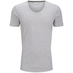 J.Lindeberg Men's Axtell Scoop T-Shirt - Light Grey