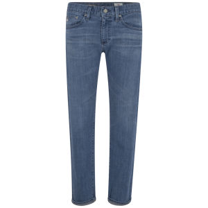 AG Jeans Women's Piper Crop Slim Fit Mid Rise Boyfriend Jeans in 12 Years Wash - Mid Blue
