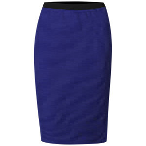 Influence Women's Ponte Midi Pencil Skirt - Cobalt Blue