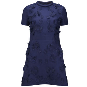 Victoria Beckham Women's Tunic Dress - Navy Silk