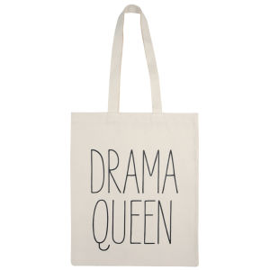 Alphabet Bags 'Drama Queen' Tote Bag - White