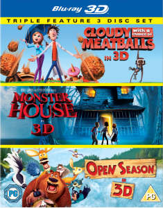 Cloudy with a Chance of Meatballs 3D / Monster House 3D / Open Season 3D