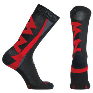 Northwave Extreme Winter High Socks - Black/Red