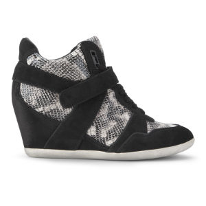 Ash Women's Bisou Ter Wedged Trainers - Black/White Sole