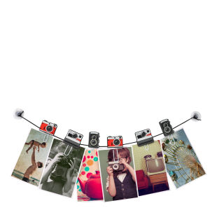 Clipit -  Kameras Foto und Nachrichten Wäscheleine