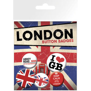 London Keep Calm - Badge Pack