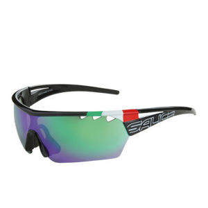 Salice 006 ITA Sports Sunglasses - Sports Sunglasses - Black/Green
