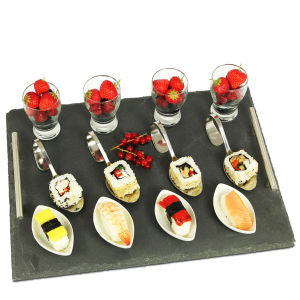 Natural Living 13 Piece Slate Tapas Set