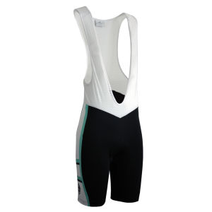 Bianchi Rometta Cycling Bib Shorts - Black/White/Celeste