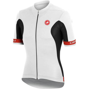 Castelli Volata Full Zip Jersey - White/Black