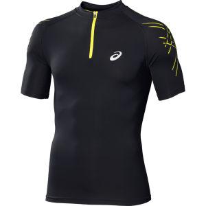 Asics Herren Performance Laufshirt mit Reißverschluss - schwarz