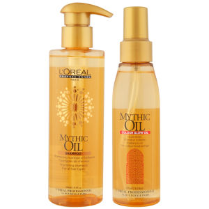 L'Oreal Professionel Mythic Oil Shampoo & Colour Glow Oil Bundle