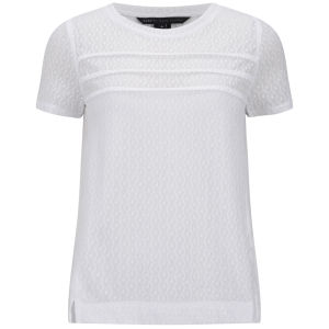 Marc by Marc Jacobs Women's Addy Lace Mix T-Shirt - White