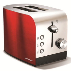 Morphy Richards 44206 Accents 2 Slice Polished Toaster - Red