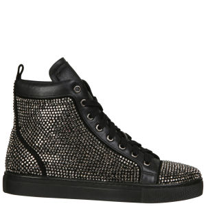 Lola Cruz Women's Embellished High Top Trainers - Black