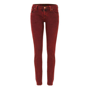 Nudie Women's Tight Long John Organic Skinny Jeans - Icon Red
