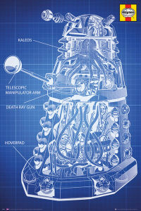 Doctor Who Haynes Dalek Blueprint - Maxi Poster - 61 x 91.5cm