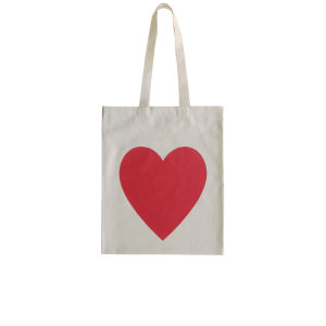 Alphabet Bags 'Heart' Tote Bag - White/Red