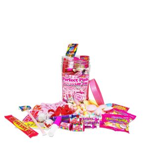 The 'Perfect Pink' Retro Sweet Jar - Large (1.5kg)
