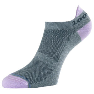 1000 Mile Tactel Liner Sock - Grey/Pink
