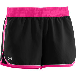 Under Armour Women's Great Escape II Shorts - Black/Pink Adelic/White