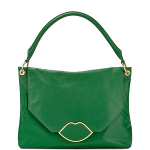 Lulu Guinness Medium Nicola Leather Shoulder Bag - Emerald
