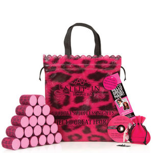 Sleep In Rollers - Pink Leopard (x20 in a Bag)