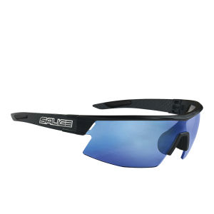Salice CSPEED RW Sports Sunglasses - Mirror - Black/RW Blue
