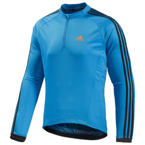 Adidas Response Long Sleeve Jersey - Solar Blue/Black