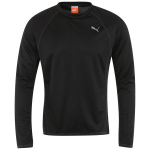 Puma Men's Drycell Long Sleeve T-Shirt - Black/Grey