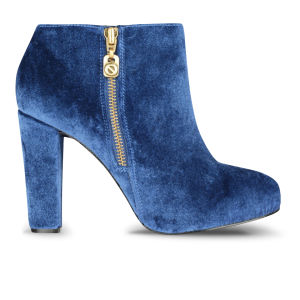 Kat Maconie Women's Camilla Velvet Heeled Ankle Boots - Marinho Blue